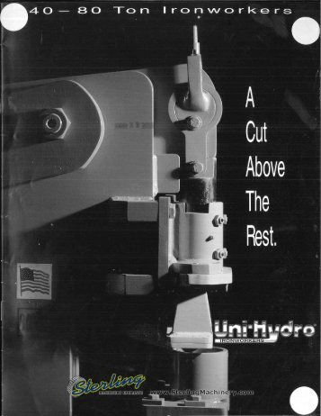 Uni- Hydro Ironworker 40-80 Ton Brochure - Sterling Machinery