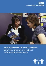 Information Governance - NHS Connecting for Health