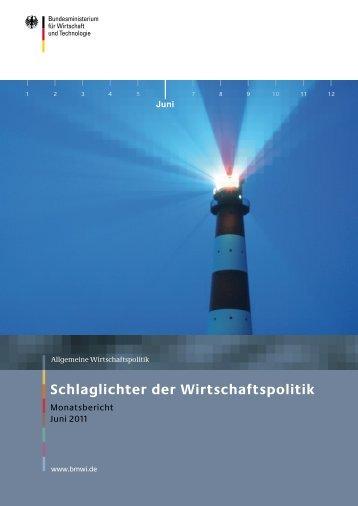 Schlaglichter der Wirtschaftspolitik - Monatsbericht Juni 2011 - BMWi