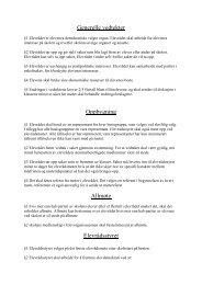 Elevrådets vedtekter - Videregående skoler