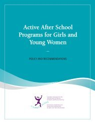 Active After School Programs for Girls and Young Women