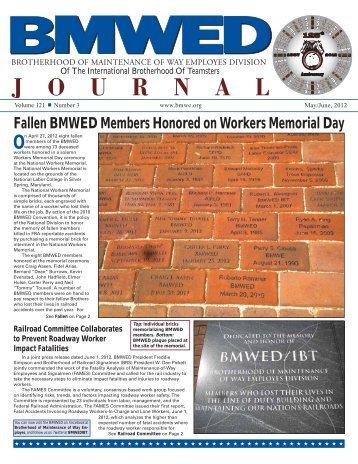 Fallen BMWED Members Honored on Workers Memorial Day