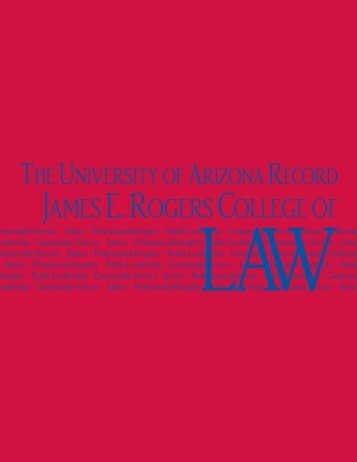 jamese. rogerscollege of - College of Law - University of Arizona