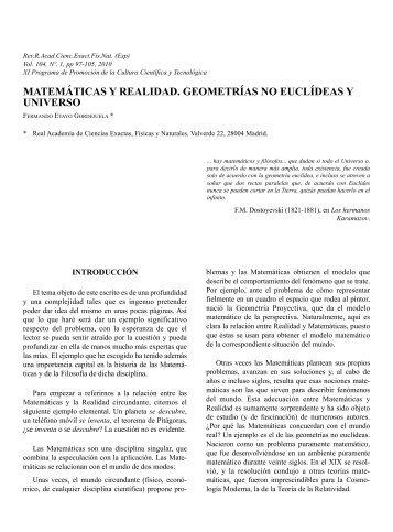 texto completo publicado de la conferencia - Real Academia de ...