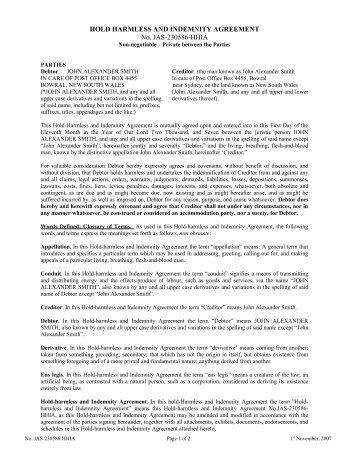 Simple hold harmless agreement tolgjcmanagement simple hold harmless agreement platinumwayz