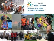 CSR Service Profile - Parks, Recreation and Culture - City of Vernon