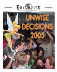 The Dartmovth: Winter 2005 - Dartmouth Media Downloads Server ...
