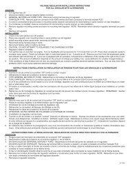 VOLTAGE REGULATOR INSTALLATION INSTRUCTIONS FOR ALL ...