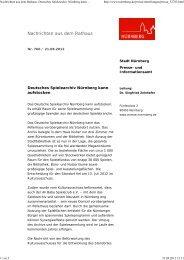 Pressemitteilung der Stadt Nürnberg (21.08.2012) - Ali Baba ...