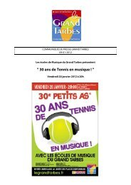 COMMUNIQUE DE PRESSE – GRAND TARBES - Tarbes-Infos