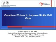Combined Voices to Improve Sickle Cell Care - Sickle Cell Disease ...