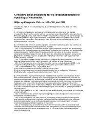 Cirkulære om planlægning for og landzonetilladelse til opstilling af ...