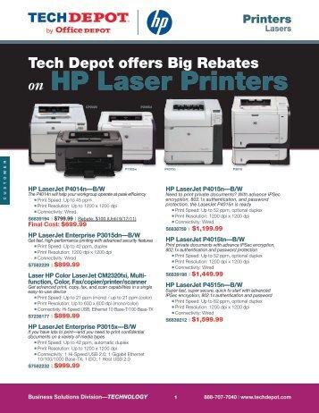 on HP Laser Printers - Tech Depot