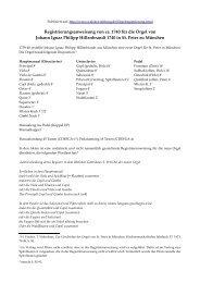 Registrieranweisung für die Orgel von Johann Ignaz Philipp ...