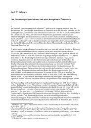 Karl W. Schwarz Der Heidelberger Katechismus und seine ...