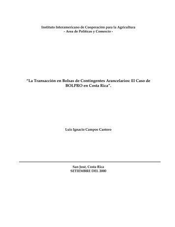 """""""La Transacción en Bolsas de Contingentes Arancelarios: El Caso ..."""