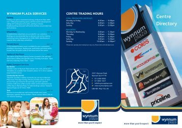 Click here to view the centre directory map - Wynnum Plaza