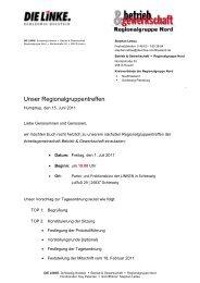 Unser Regionalgruppentreffen - DIE LINKE. Schleswig Holstein