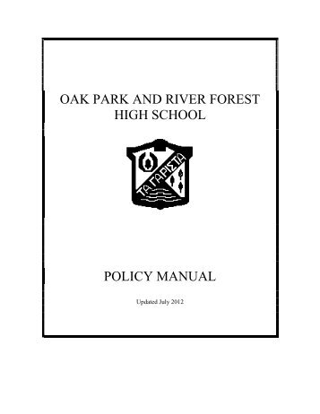 Policy Manual - Oak Park and River Forest High School