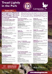 Ranger led events - Cairngorms National Park Authority