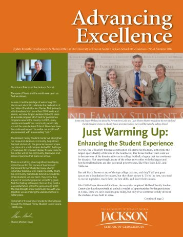 Advancing Excellence - Jackson School of Geosciences - The ...