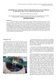 experimental investigation of the onset of nucleate boiling - CDTN