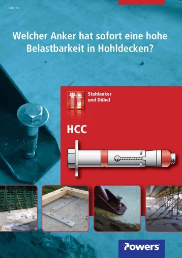 HCC Hohldeckenanker – Verzinkt - bei Powers Europe