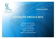 Actualité fiscale 2013 - Clients Lyon - Lamy Lexel