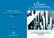 Programa completo de El Organo y sus Instrumentos.