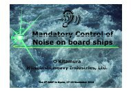 Mandatory Control of Noise on board ships