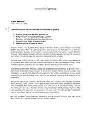 Press Release (pdf, 81.31KB) - Zumtobel Group