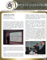 Perfiles DRI MARZO 2012 - Universidad Tecnológica de Panamá