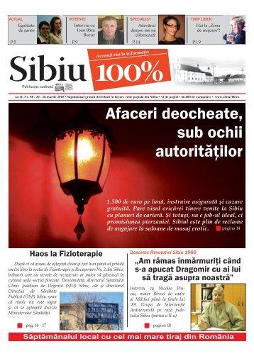 Afaceri deocheate, sub ochii autorităţilor - Sibiu 100