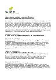Zur Neugründung organisiert WIDE Switzerland mit Women in ...
