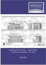 Building Plot At 23a Colin Road Taunton Somerset TA2 7AS ... - ISSL