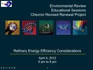 Measuring Refinery Energy Efficiency Presentation - Chevron ...