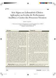 Seis Sigma no Laboratório Clínico - NewsLab