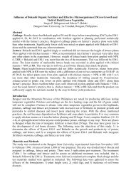 Influence of Bokashi Organic Fertilizer and Effective Microorganisms ...