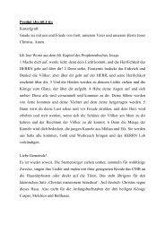 Predigt (Jes 60,1-6): - Evangelische Philippus-Kirchengemeinde ...