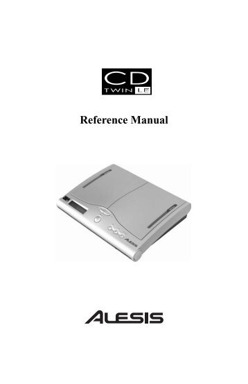 Reference Manual - Alesis
