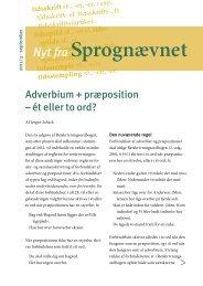 Adverbium + præposition – ét eller to ord? - Dansk Sprognævn