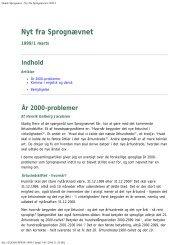 Dansk Sprognævn - Nyt fra Sprognævnet 1999/1