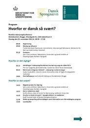 Konferenceprogram - Dansk Sprognævn