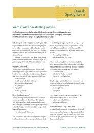 Værd at vide om afdelingsnavne - Dansk Sprognævn