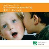 Et tilbud om sprogvurdering af dit 3-Ã¥rige barn