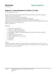 Referat af 7. bestyrelsesmøde 2010 08-11-2010 - Dansk Sprognævn