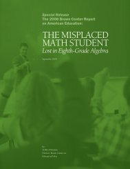 The Misplaced Math Student - Brookings Institution