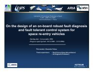 ARIA On the design of an on board robust fault diagnosis and ... - IMS