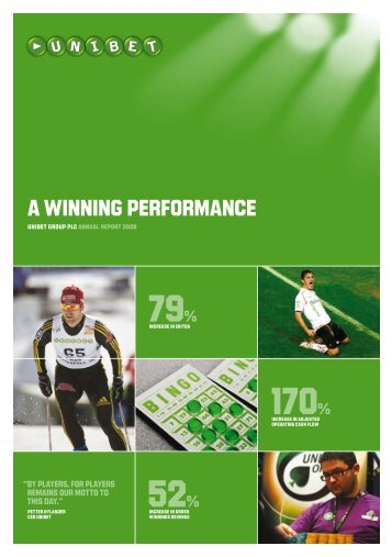 Annual Report and Accounts 2008 (pdf-file) - Unibet