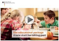 The educational package A new start for taking part